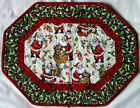 Handcrafted Quilted Table Runner Topper CHRISTMAS SANTA TOYS FIREPLACE CHIMNEY