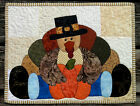 Handcrafted Quilted Appliqued Table Runner Topper THANKSGIVING TURKEY PILGRIM