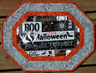Handcrafted Quilted Table Runner Topper HALLOWEEN CASPER GHOST BOO EYES CATS