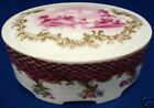 ANTIQUE ROSENTHAL PORCELAIN OVAL VANITY BOX dated 1914