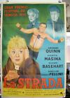 LA STRADA Anthony Quinn Federico Fellini original Argentina 1954 movie poster