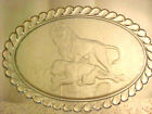 Very RARE 1876 pressed glass oval platter LION pattern