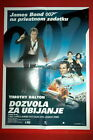007 JAMES BOND LICENCE TO KILL RARE EXYU MOVIE POSTER