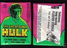1979 Topps Incredible Hulk Wax Pack From Original Box!