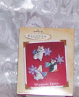 2002 HALLMARK CHRISTMAS ORNAMENTS WOODLAND FROLIC SET 3
