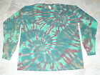 Tie dye dyed hippie t-shirt long sleeve mens Large L LG
