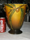ANTIQUE ROSEVILLE BROWN PINECONE ART POTTERY TREE GARDEN FLORAL URN PLANT VASE