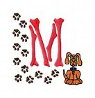 Machine Embroidery Puppy Dog Print Font Monogram