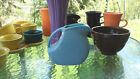 FIESTA small juice DISK PITCHER periwinkle turquoise 2tone