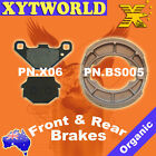 Front Rear Brake Pads Shoes Kawasaki KLR600 KLR 600 84-