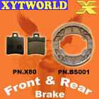Front Rear Brake Pads Shoes BENELLI Pepe 50 100 1999-10