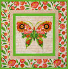 12 Large 6 BUTTERFLY Quilt Blocks Panel Squares Fabric