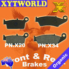 Front Rear Brake Pads for GAS-GAS Trail Halley 450 2009