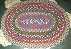ANTIQUE PRIMITIVE HOME BRAIDED COUNTRY FARM HOUSE FOLK ART FLOOR RUG CARPET TOOL