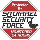 Squirrel Security Force Signs