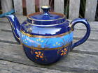 ANTIQUE VINTAGE POTTERY TEAPOT NUMBERED ENAMELED PAINT