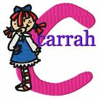 Rag Doll Girl Font Monogram Machine Embroidery Designs