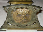 ANTIQUE BULLDOG BRASS CAST IRON DOG EXPANDABLE BOOKRACK BOOKENDS ART RACK BOOK