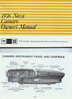 1976 CAMARO NOVA OWNERS MANUAL BY CHEVROLET HANDBOOK CHEVY BOOK GUIDE Z28 SS 76