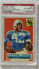 LENNY MOORE 1956 TOPPS RC HOF ROOKIE CARD #60 SIGNED AUTOGRAPH LIONS PSA