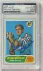 BOB GRIESE 1968 TOPPS HOF RC ROOKIE CARD #196 SIGNED AUTOGRAPH DOLPHINS PSA