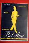 BEL AMI JEAN DANET ANNE VERNON FRENCH 1955 UNIQUE DOUBLE SIDE YU MOVIE POSTER