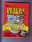1991 Topps Desert Storm Homecoming Edition 3rd Series Wax Pack Fresh from Box!