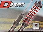 TOKICO DSPEC R SHOCKS & SPRINGS COILOVER CIVIC 92- 00 & INTEGRA 94-01