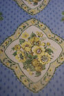 18 Yards VINTAGE~WAVERLY TURNBULL HOUSE COTTON FABRIC~BLUE,BEIGE,YELLOW~36