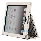 Hot Polka Dot Magnetic PU Leather Case Smart Stand Cover for iPad 2 / 3 White
