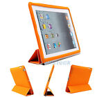 Slim Magnetic Smart Cover PU Leather Stand WakeUp Sleep Case for iPad 2 3 Orange