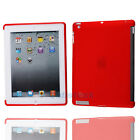 Hot Soft Gel TPU Protective Back Case Smart Cover for Apple iPad 2 2nd Red