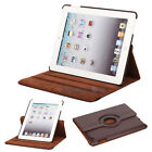 New 360 Magnetic Smart Cover Leather Case Rotating Stand for iPad3 iPad 3 Brown