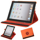 New 360 Magnetic Smart Cover Leather Case Rotating Stand for iPad3 iPad 3 Orange