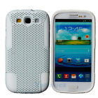 Silicone + Plastic Case Cover Double Layer for Samsung Galaxy S3 i9300 White