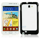 TPU Frame Case Cover for Samsung Galaxy Note i9220 Outside Black Inside White