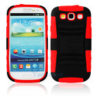 New Silicone/PC Case Cover with Stand/clip for Samsung Galaxy S3 i9300 Red