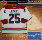 Montreal Canadiens Jacques Lemaire Signed White NHL CCM Jersey