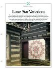 Lone Star Variations 2 Quilts Best Loved Quilt sewing patterns