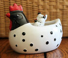New Rooster Chicken Dip Bowl and Spreaker Knife Set Barnyard Farm Decor Party