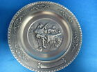 Engraved  Pewter Deco Plate