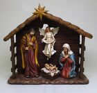 NATIVITY BIRTH OF JESUS IN A MANGER FIGURINE STATUEBORN OF CHRISTCOLOREDNICE