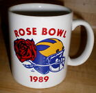 1989 ROSE BOWL Coffee MUG University of MICHIGAN Football WOLVERINES USC Game