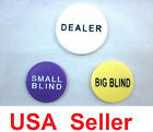 Small Blind Big Blind and Dealer Button Poker Lot Best Price USA Seller