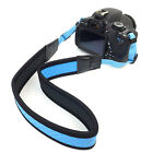 Blue Soft Neoprene Camera Neck Shoulder Strap For Canon Nikon Sony and more DSLR