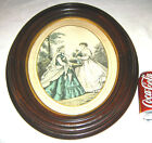 ANTIQUE VICTORIAN LADY DRESS BUST WOOD PICTURE PHOTO PRINT PAINTING ART FRAME