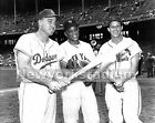 Brooklyn Dodgers- Duke Snider, Willie Mays, Stan Musial -11x14 Size