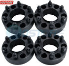 4Pcs 2 6 Lug Black Hub Wheel Spacers Adapters 6x135 fits Ford F 150 Expedition