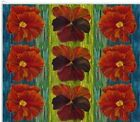 Frond Design Studios Fabric Edible Garden Nasturtium and Pansy Stripe Floral