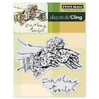 PENNY BLACK RUBBER STAMPS SLAPSTICK CLING FINISHING TOUCHES NEW STAMP 2013